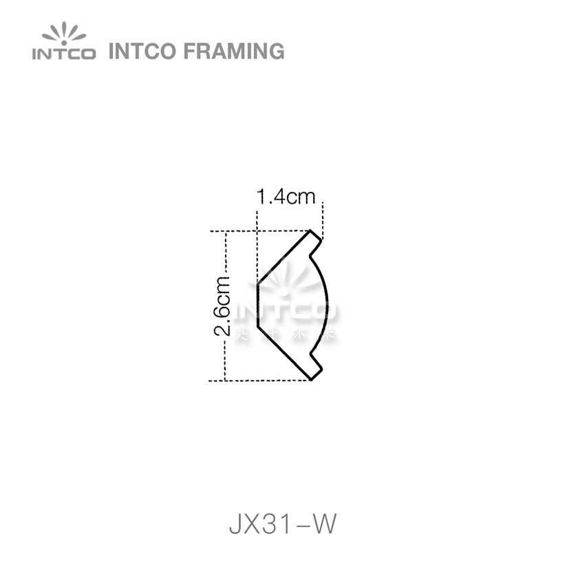 INTCO JX31-W crown moulding profile