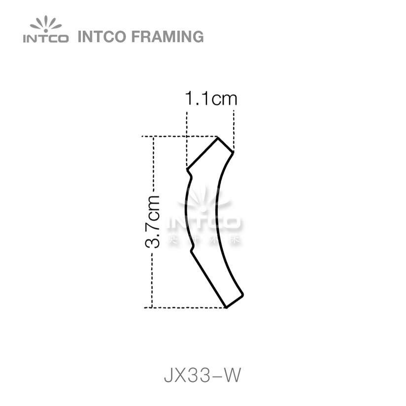 INTCO JX33-W crown moulding profile