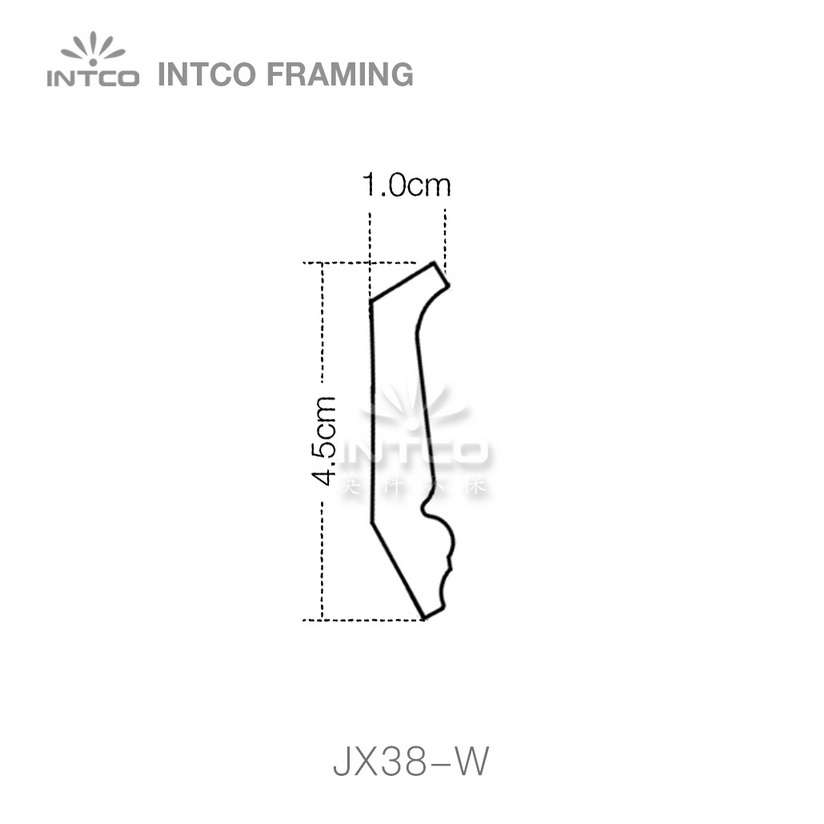 INTCO JX38-W crown moulding profile