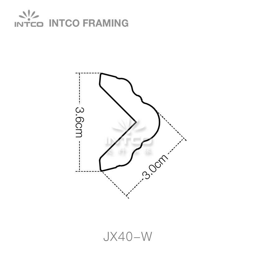 INTCO JX40-W crown moulding profile