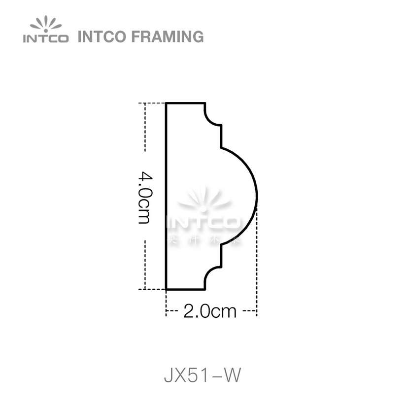 INTCO JX51-W edging moulding profile