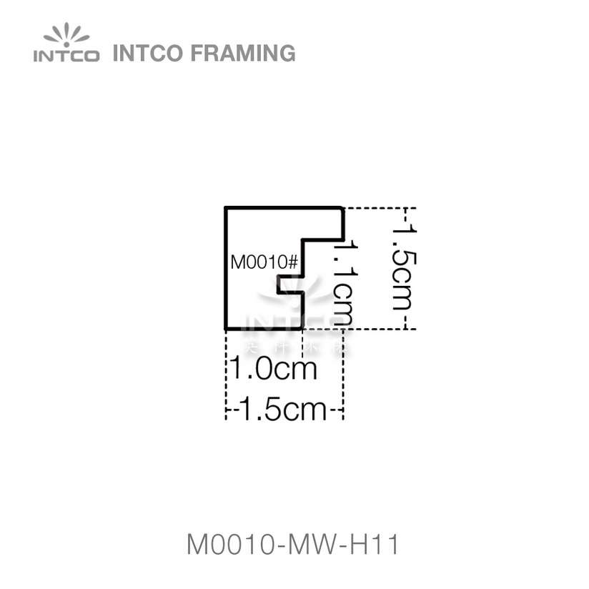 M0010 series MDF picture frame moulding profile