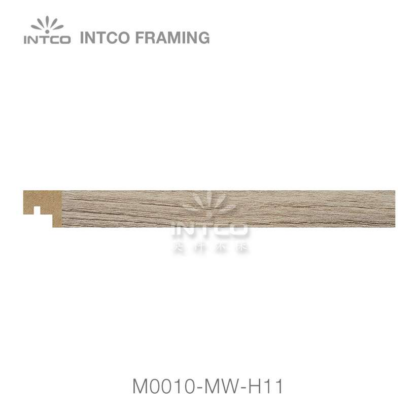 M0010-MW-H11 MDF picture frame moulding swatch sample