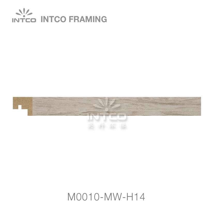 M0010-MW-H14 MDF picture frame moulding swatch sample