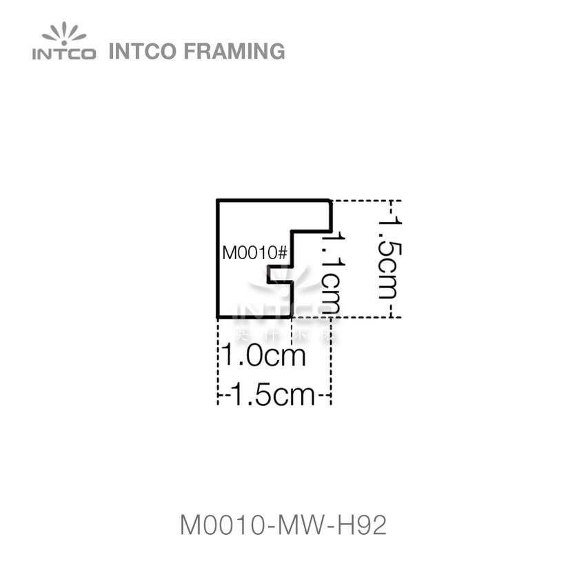 #M0010 9/16 Inch MDF picture frame moulding profiles