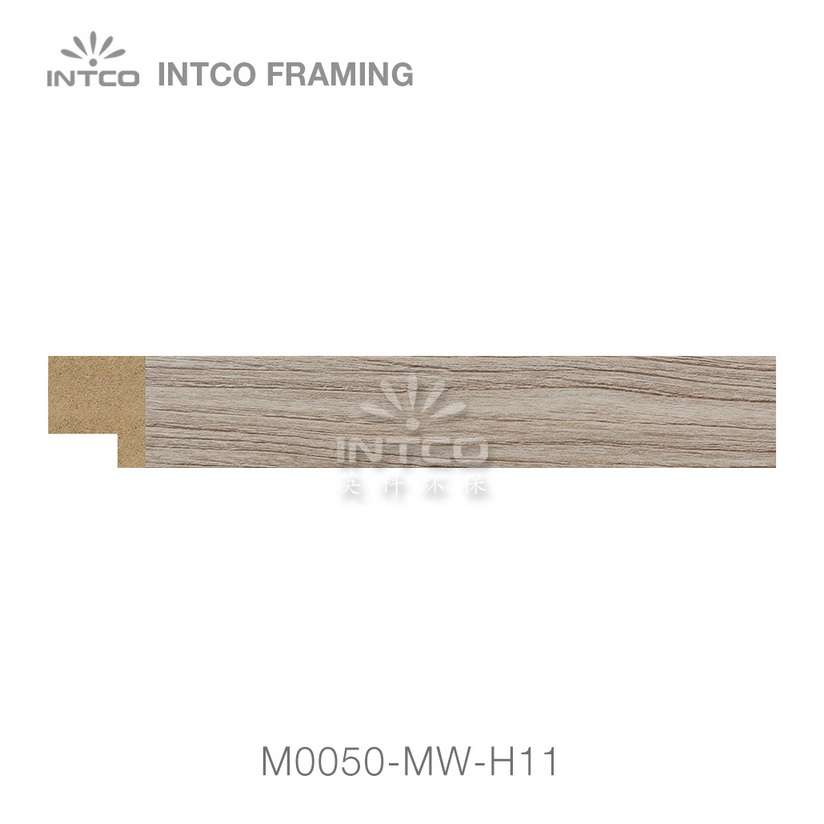 M0050-MW-H11 MDF picture frame moulding swatch sample