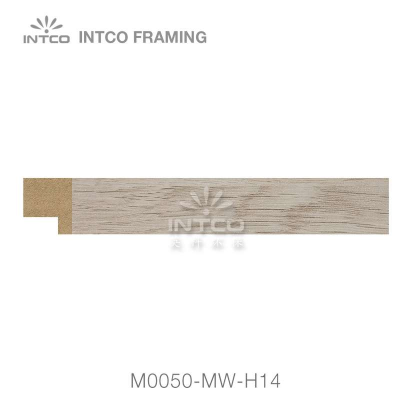 M0050-MW-H14 MDF picture frame moulding swatch sample