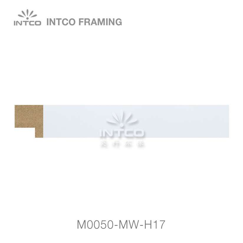 #M0050 white unfinished MDF picture frame moulding
