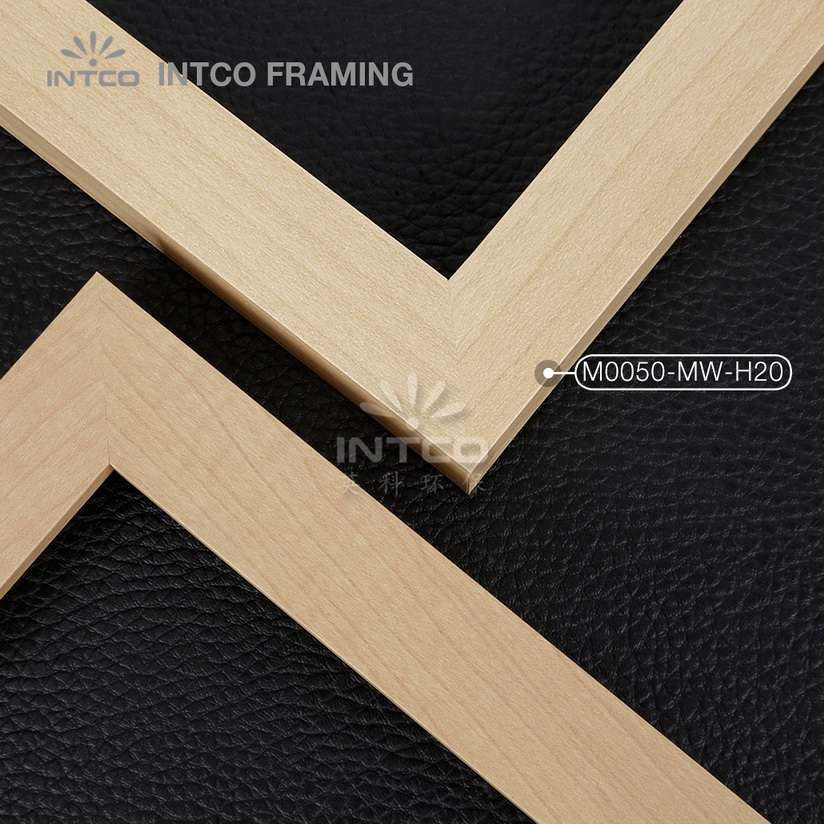 M0050-MW-H20 MDF picture frame mouldings light wood finish