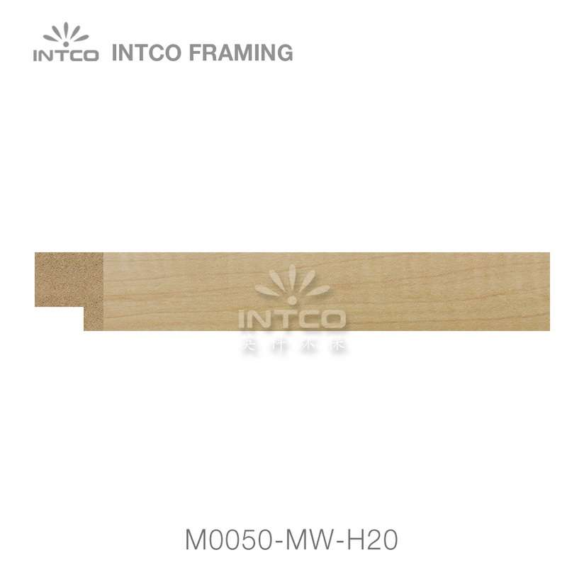 M0050-MW-H20 MDF picture frame moulding swatch sample