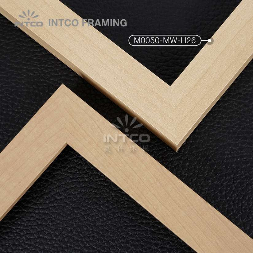 M0050-MW-H26 MDF picture frame mouldings light wood finish