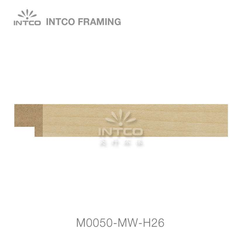 M0050-MW-H26 MDF picture frame moulding swatch sample