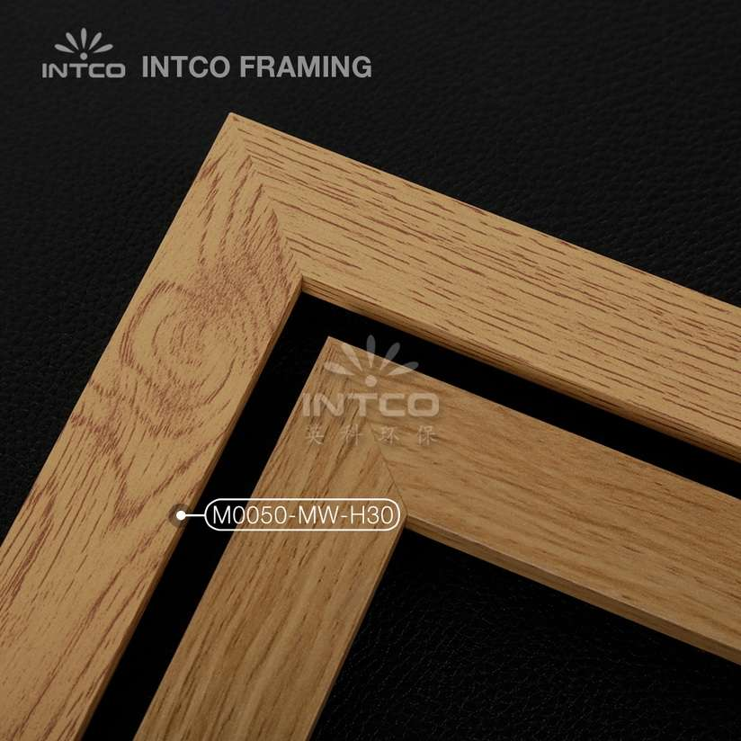 M0050-MW-H30 MDF picture frame mouldings light wood finish