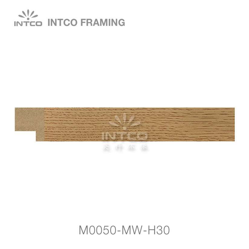 M0050-MW-H30 MDF picture frame moulding swatch sample