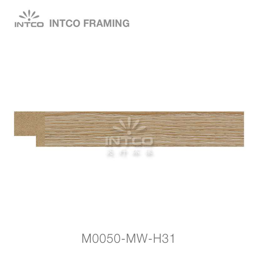 M0050-MW-H31 MDF picture frame moulding swatch sample