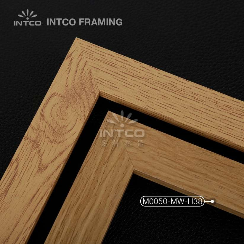 M0050-MW-H38 MDF picture frame mouldings light wood finish