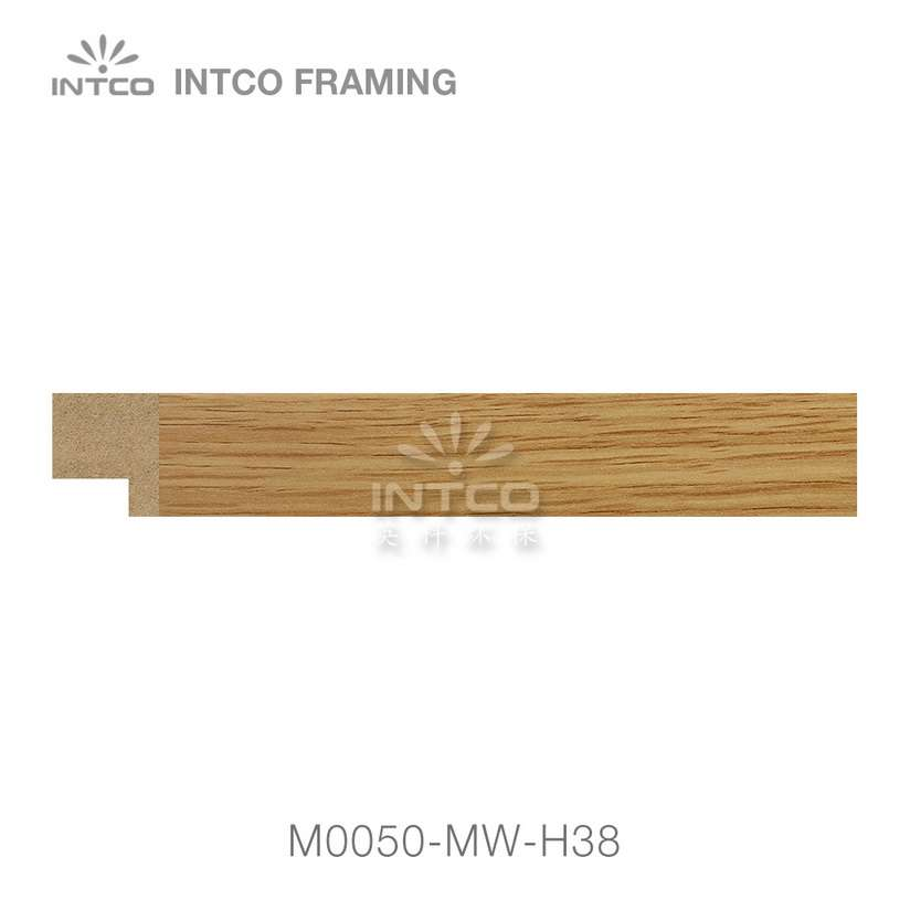 M0050-MW-H38 MDF picture frame moulding swatch sample