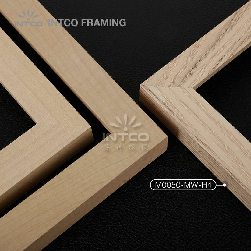 M0050-MW-H4 MDF picture frame mouldings light wood finish