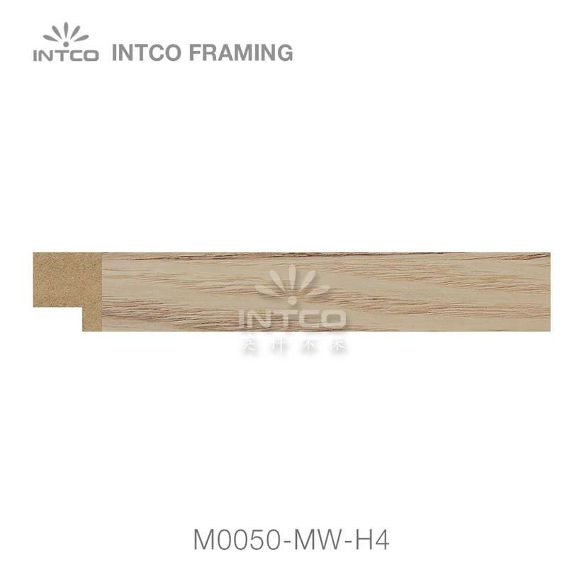 M0050-MW-H4 MDF picture frame moulding swatch sample