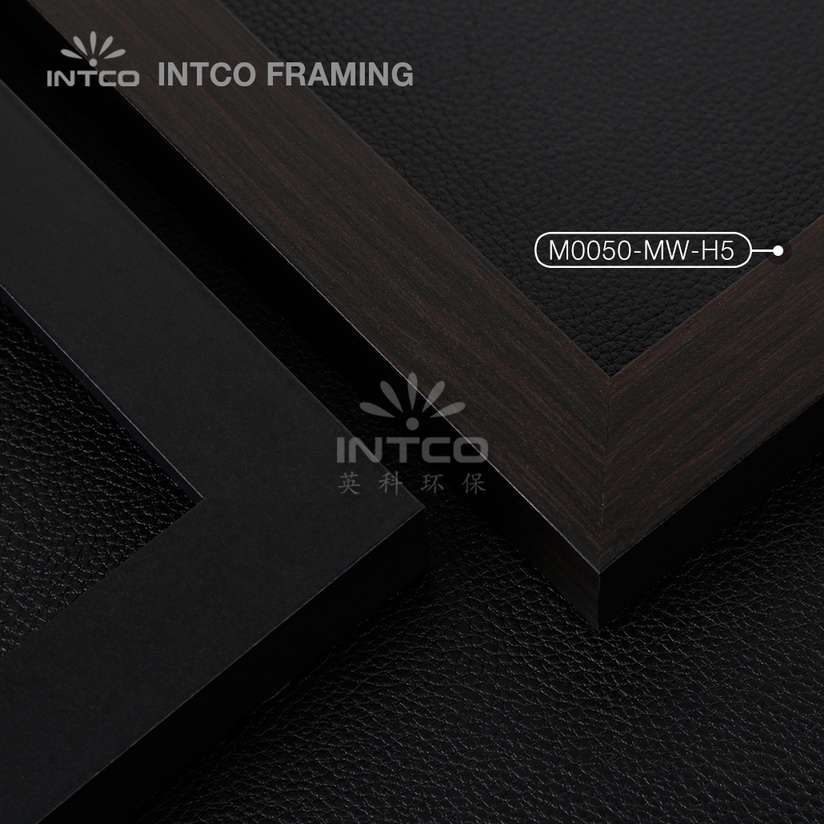 M0050-MW-H5 MDF picture frame mouldings black finish