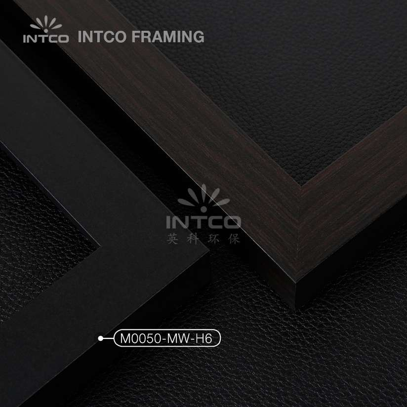 M0050-MW-H6 MDF picture frame mouldings black finish