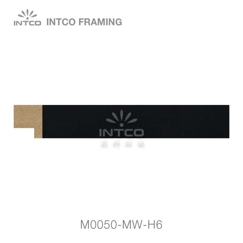 M0050-MW-H6 MDF picture frame moulding swatch sample