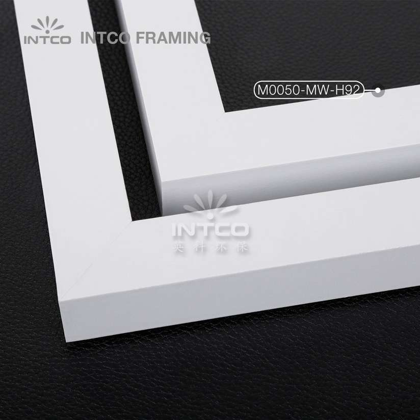 M0050-MW-H92 MDF picture frame mouldings white finish