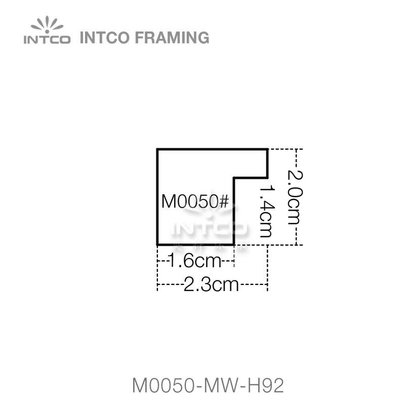 #M0050 15/16 Inch MDF picture frame moulding profiles