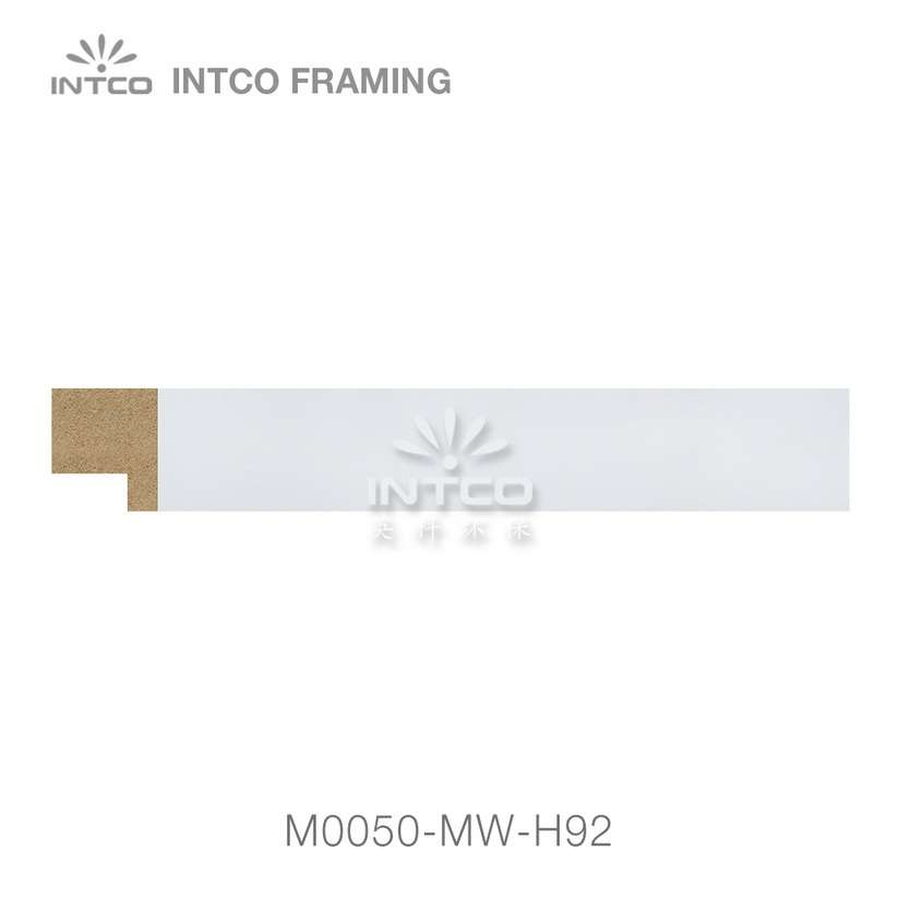 #M0050 15/16 Inch white MDF picture frame moulding