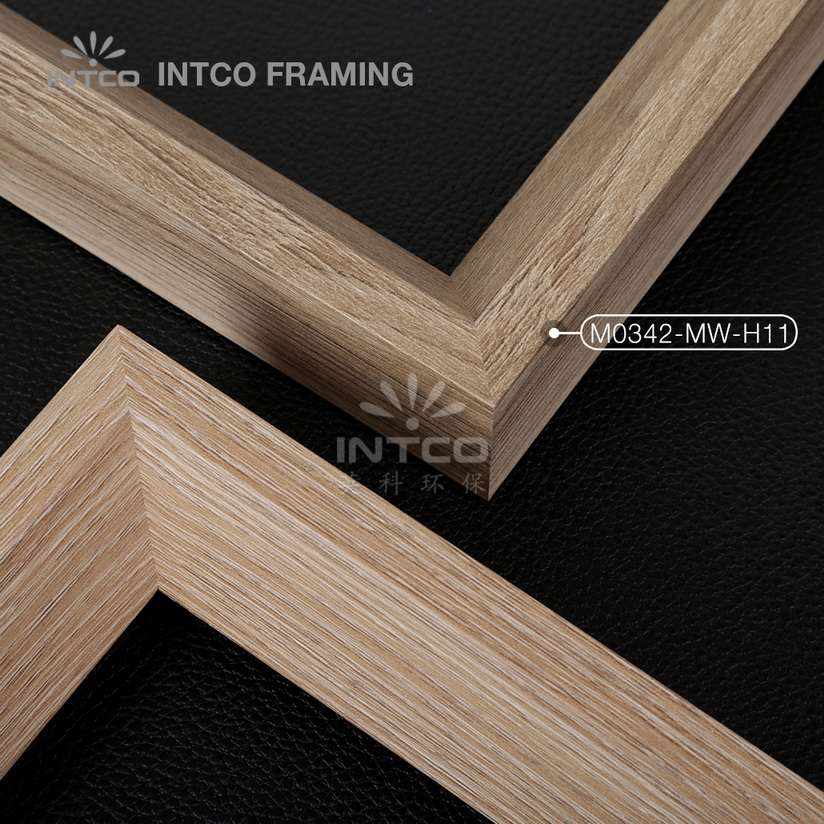 M0342-MW-H11 MDF picture frame mouldings light wood finish
