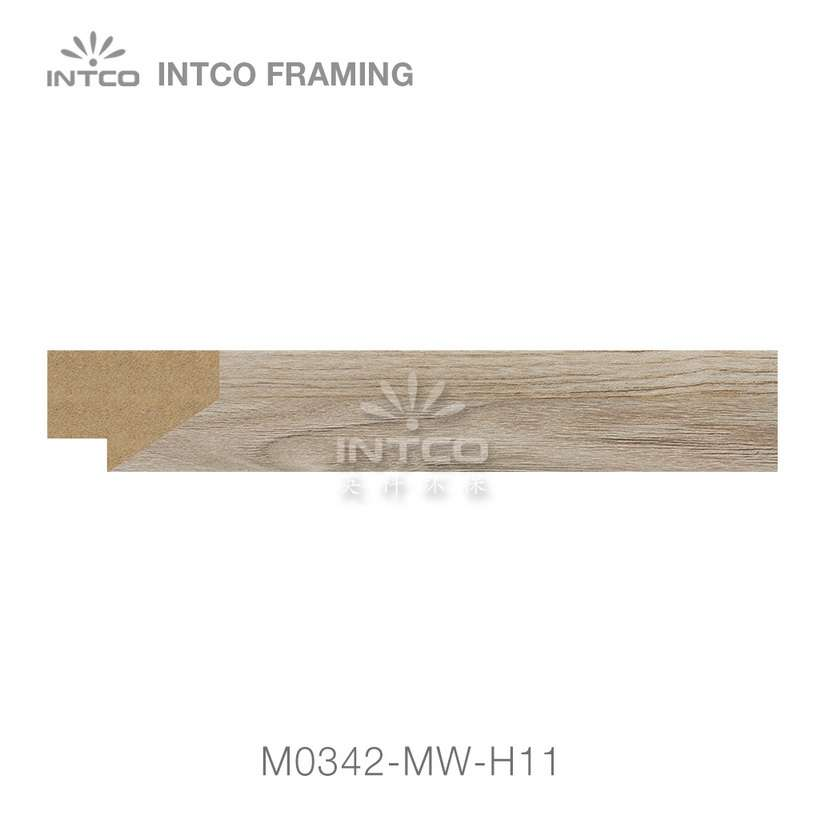 M0342-MW-H11 MDF picture frame moulding swatch sample