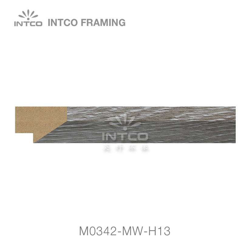 M0342-MW-H13 MDF picture frame moulding swatch sample