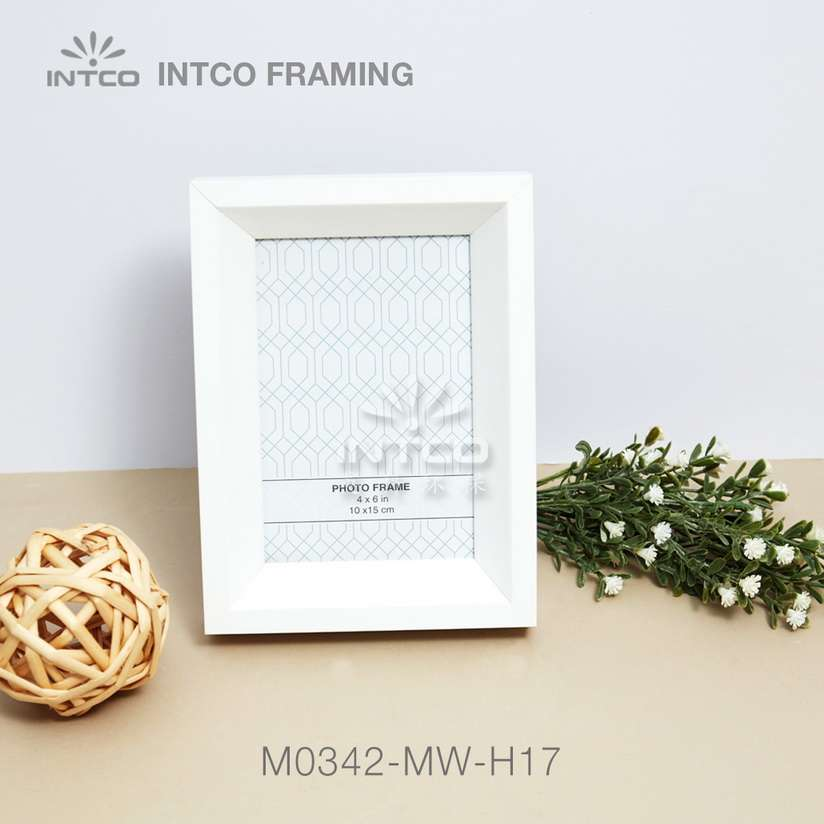 M0342-MW-H17 white mdf picture frame moulding ideas