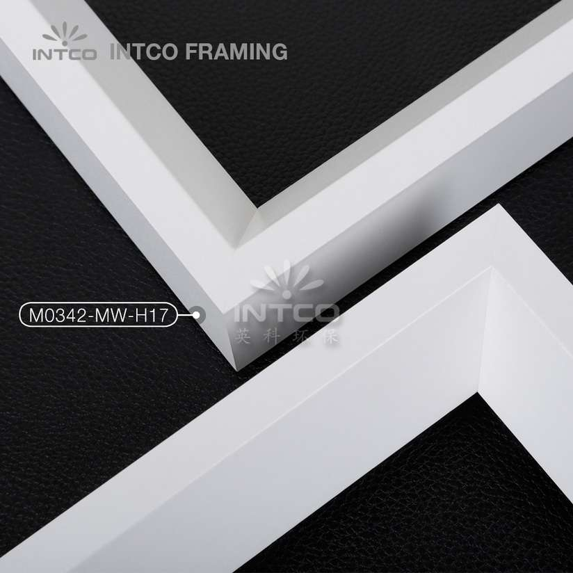 M0342-MW-H17 MDF picture frame mouldings white finish