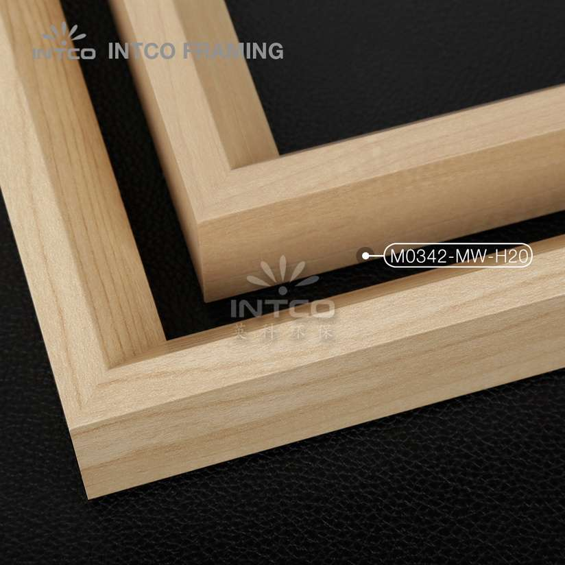 M0342-MW-H20 MDF picture frame mouldings light wood finish