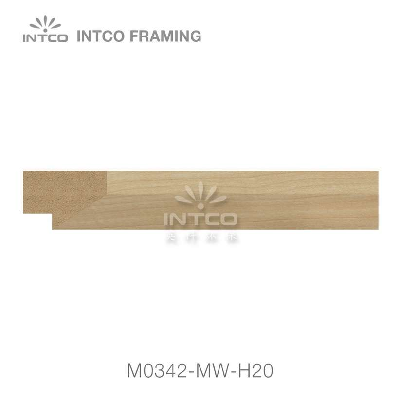 M0342-MW-H20 MDF picture frame moulding swatch sample