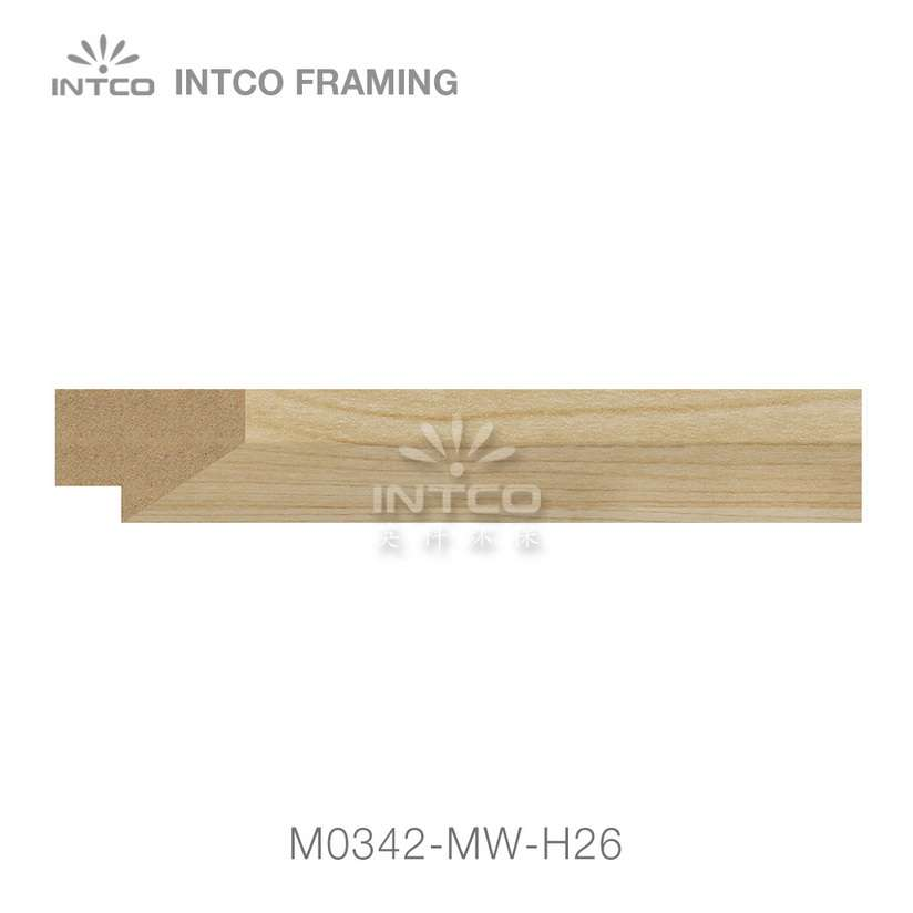 M0342-MW-H26 MDF picture frame moulding swatch sample