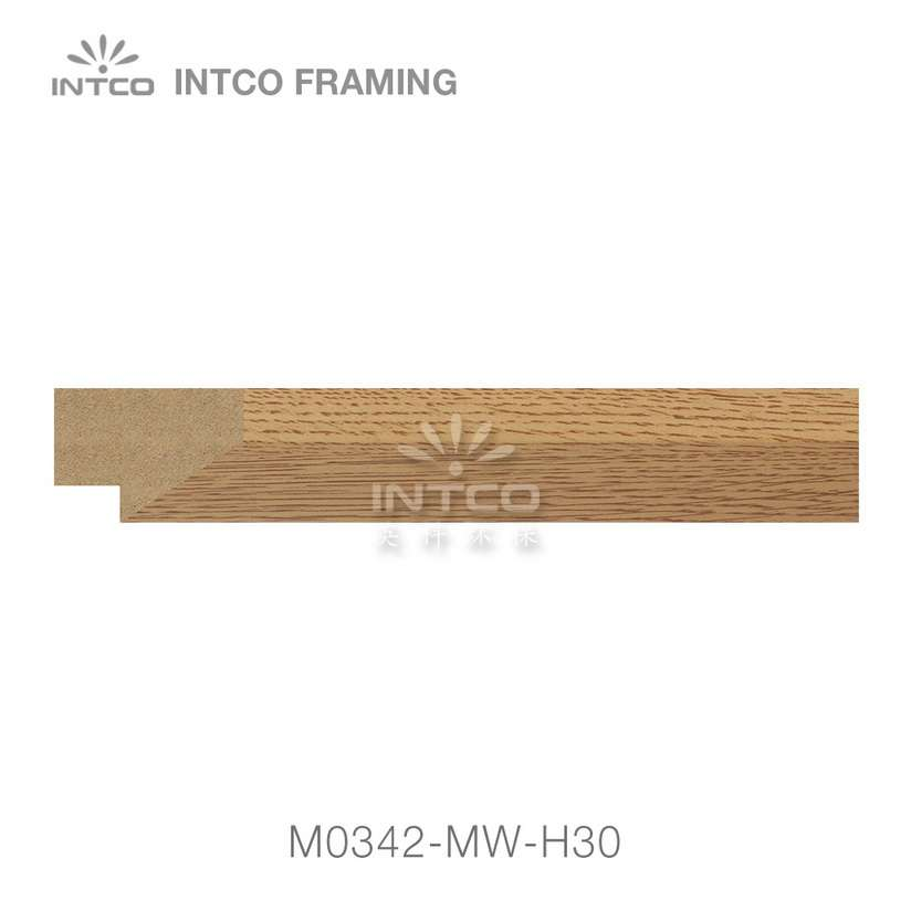 M0342-MW-H30 MDF picture frame moulding swatch sample