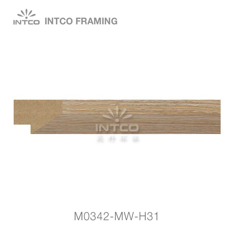 M0342-MW-H38 MDF picture frame moulding swatch sample
