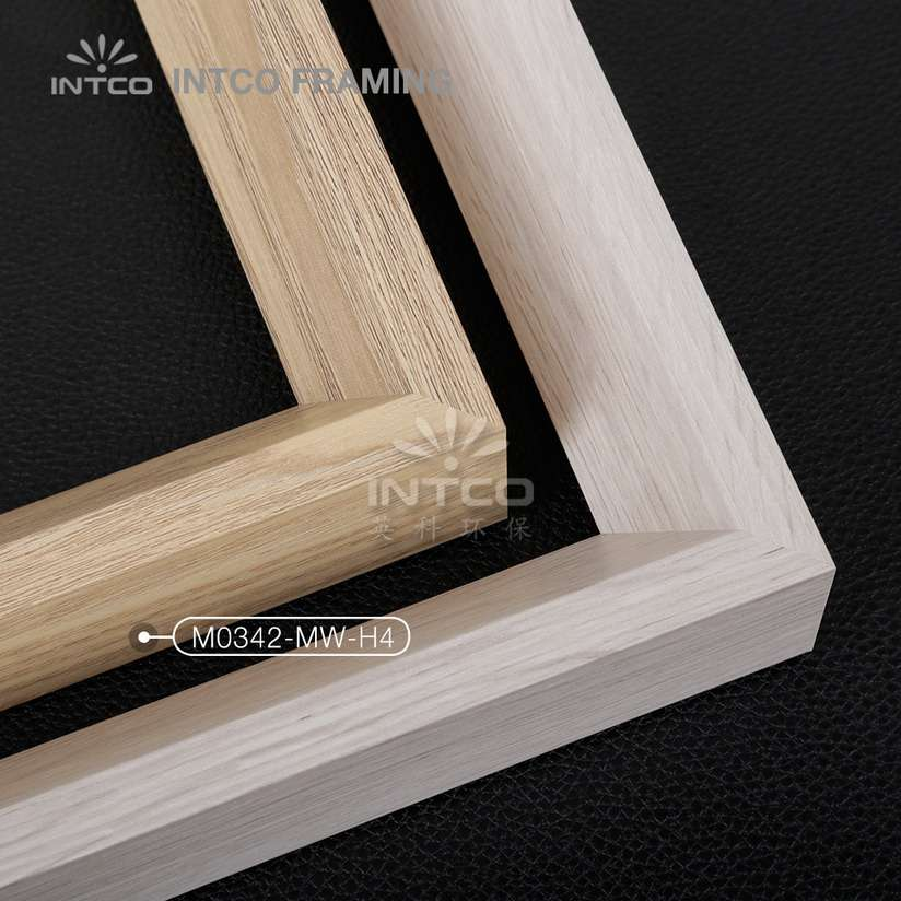 M0342-MW-H4 MDF picture frame mouldings lignt wood finish