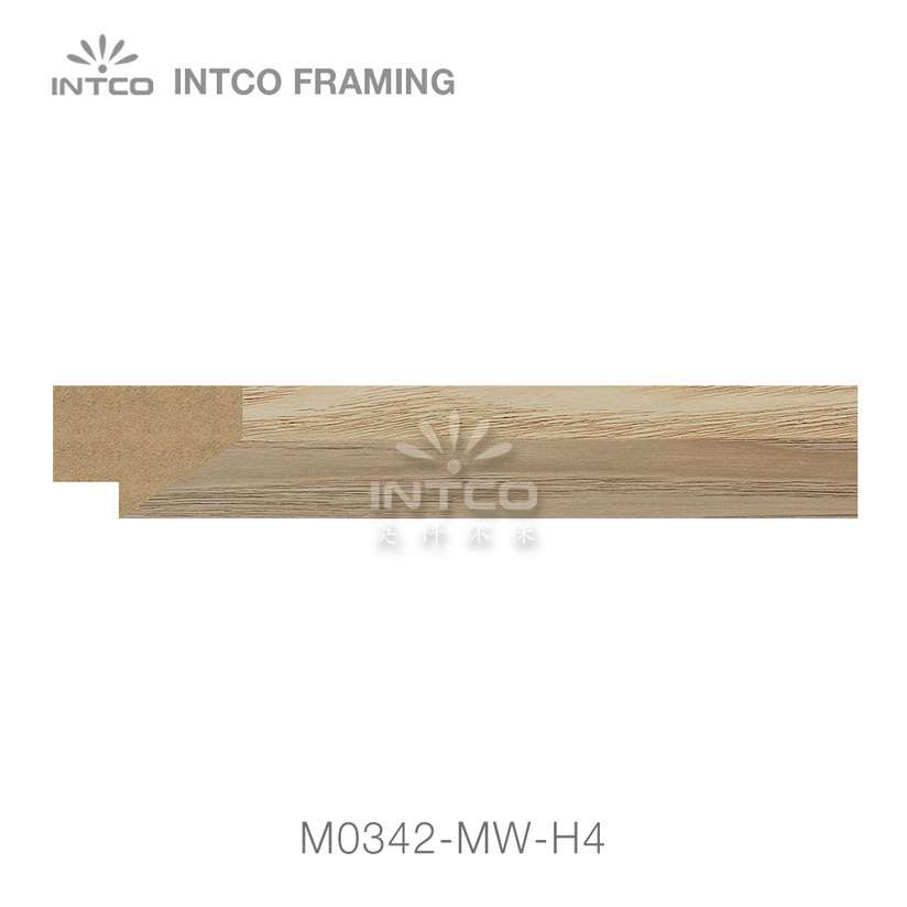 M0342-MW-H4 MDF picture frame moulding swatch sample