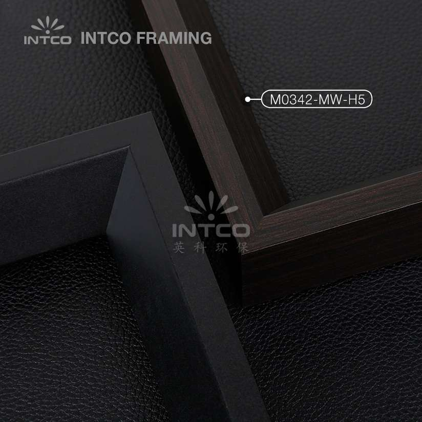 M0342-MW-H5 MDF picture frame mouldings black finish
