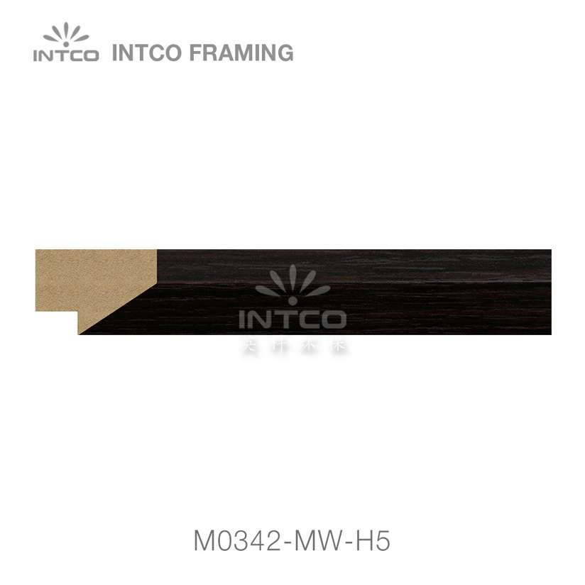 M0342-MW-H5 MDF picture frame moulding swatch sample