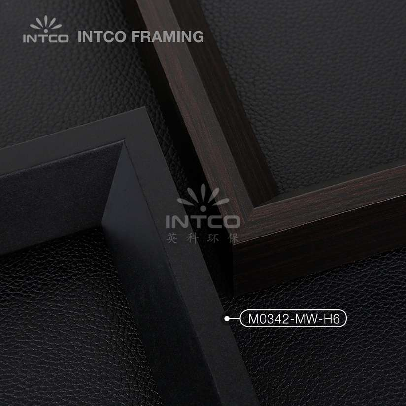 M0342-MW-H6 MDF picture frame mouldings black finish