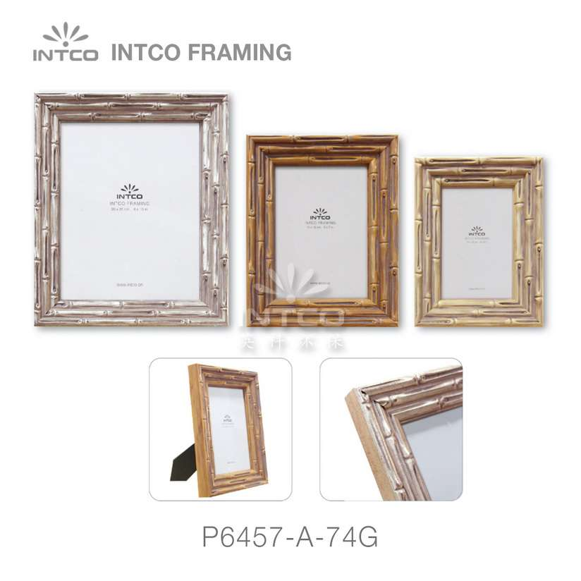 #P6457 picture frame mouldings for bamboo tabletop picture frames