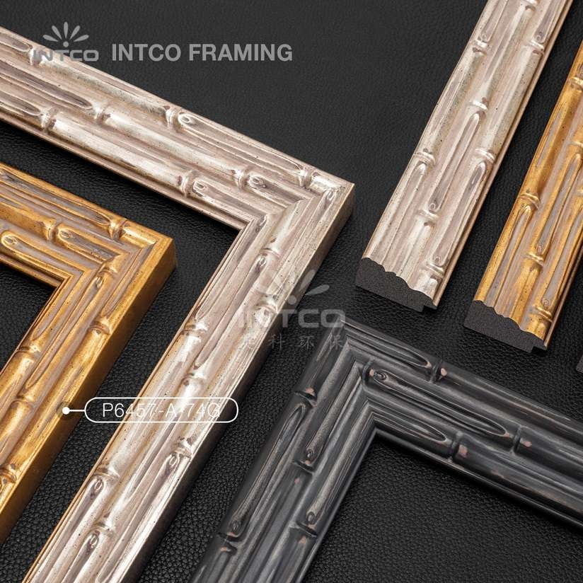 #P6457 bamboo picture frame mouldings