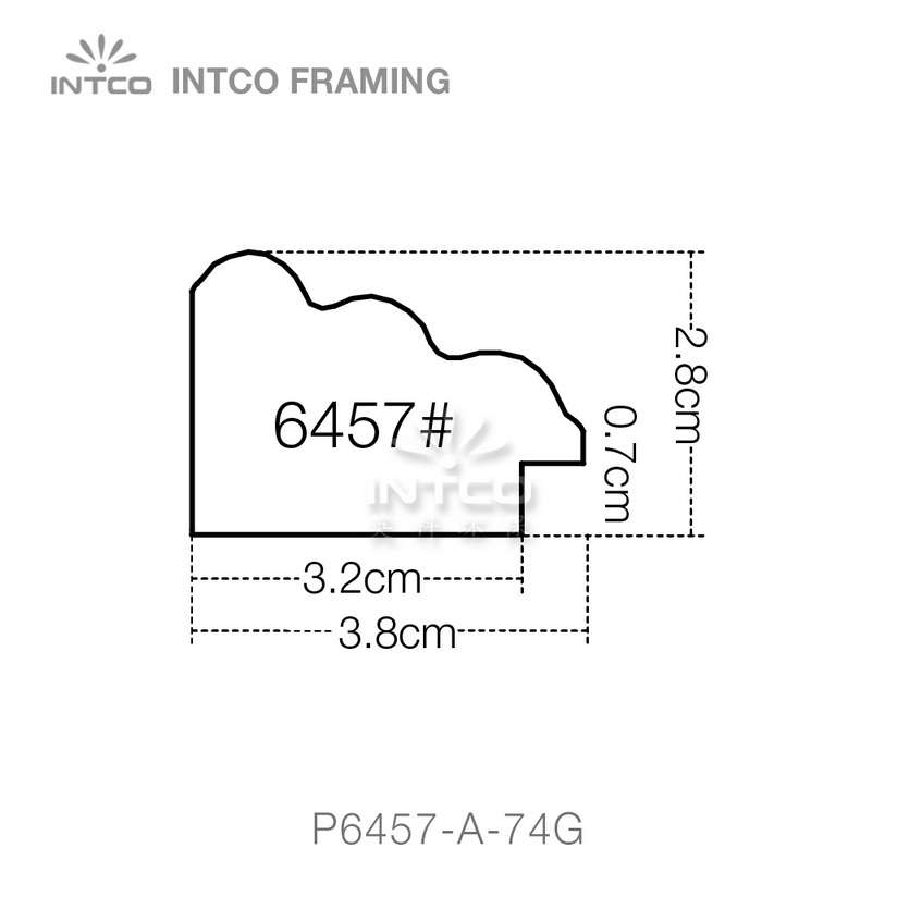 #P6457 picture frame moulding profiles