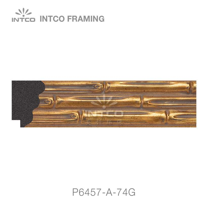 P6457-A-74G gold picture frame moulding wholesale