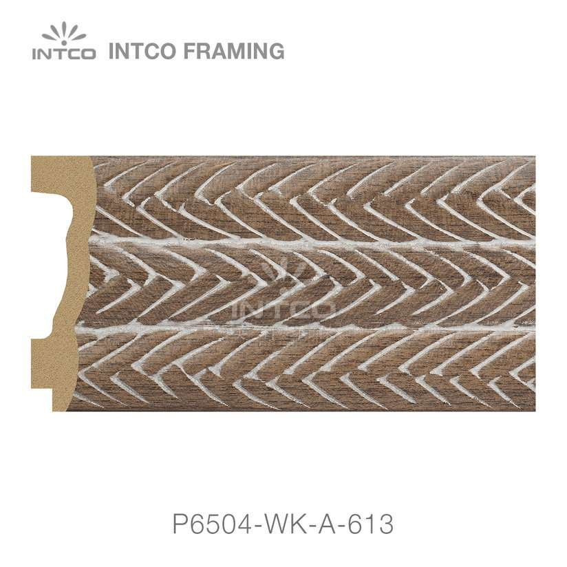 P6504-WK-A-613 PS patina mirror frame moulding swatch sample