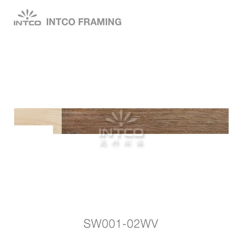 SW001-02WV wood picture frame moulding swatch sample